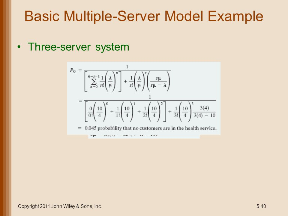 Basic Multiple-Server Model Example