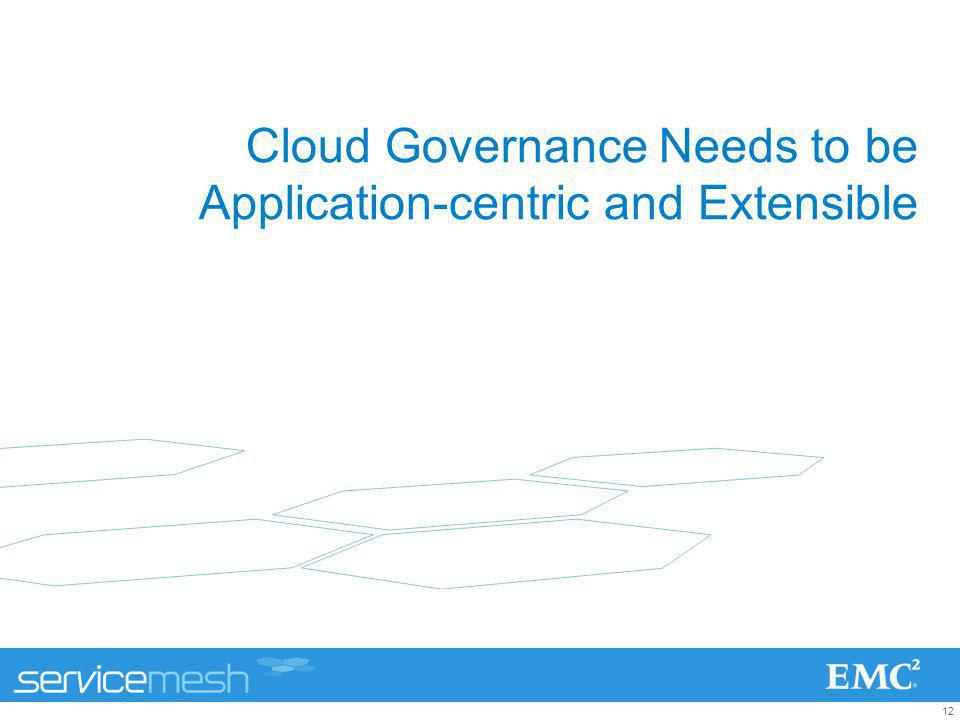 Cloud Governance Needs to be Application-centric and Extensible
