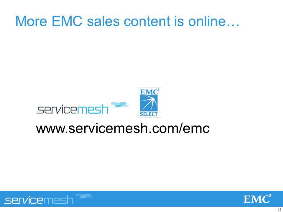 More EMC sales content is online…