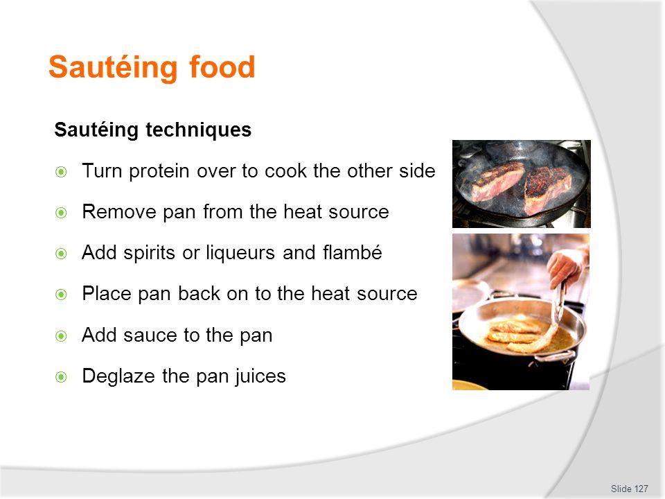 Sautéing food Sautéing techniques