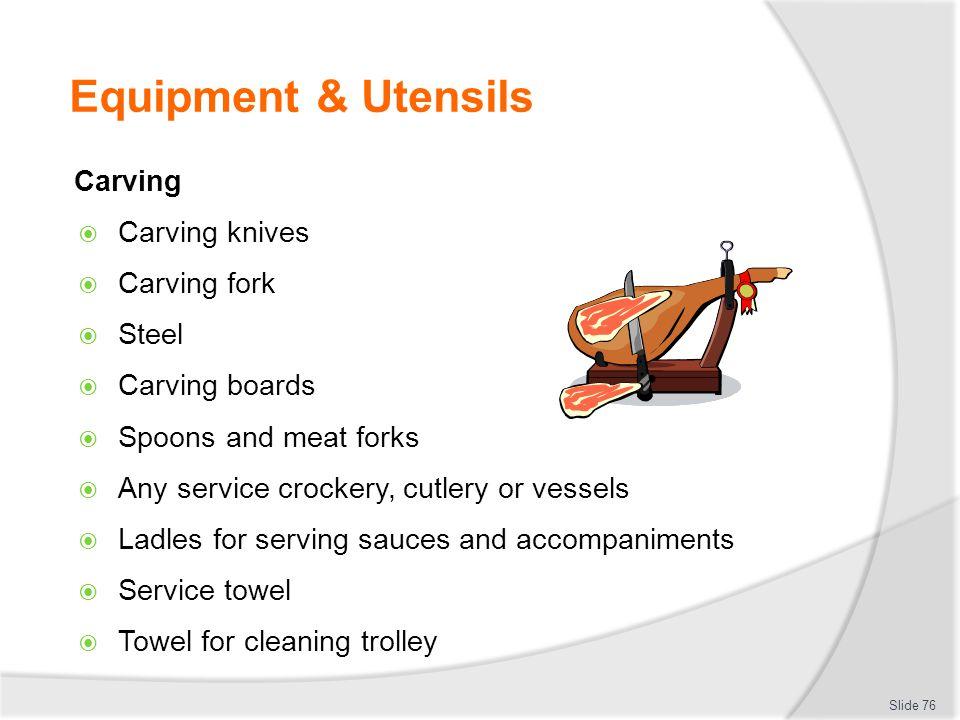 Equipment & Utensils Carving Carving knives Carving fork Steel