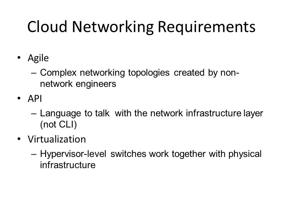Cloud Networking Requirements