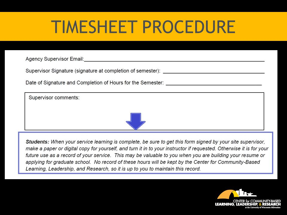 TimeSheet procedure