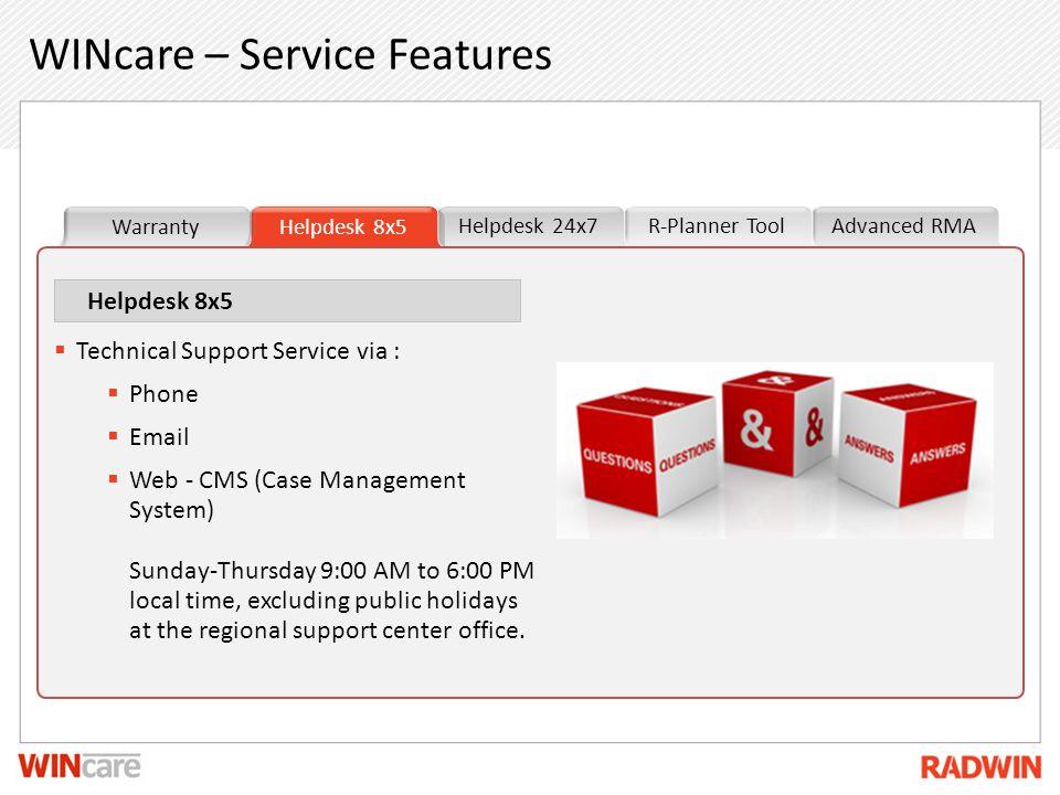WINcare – Service Features