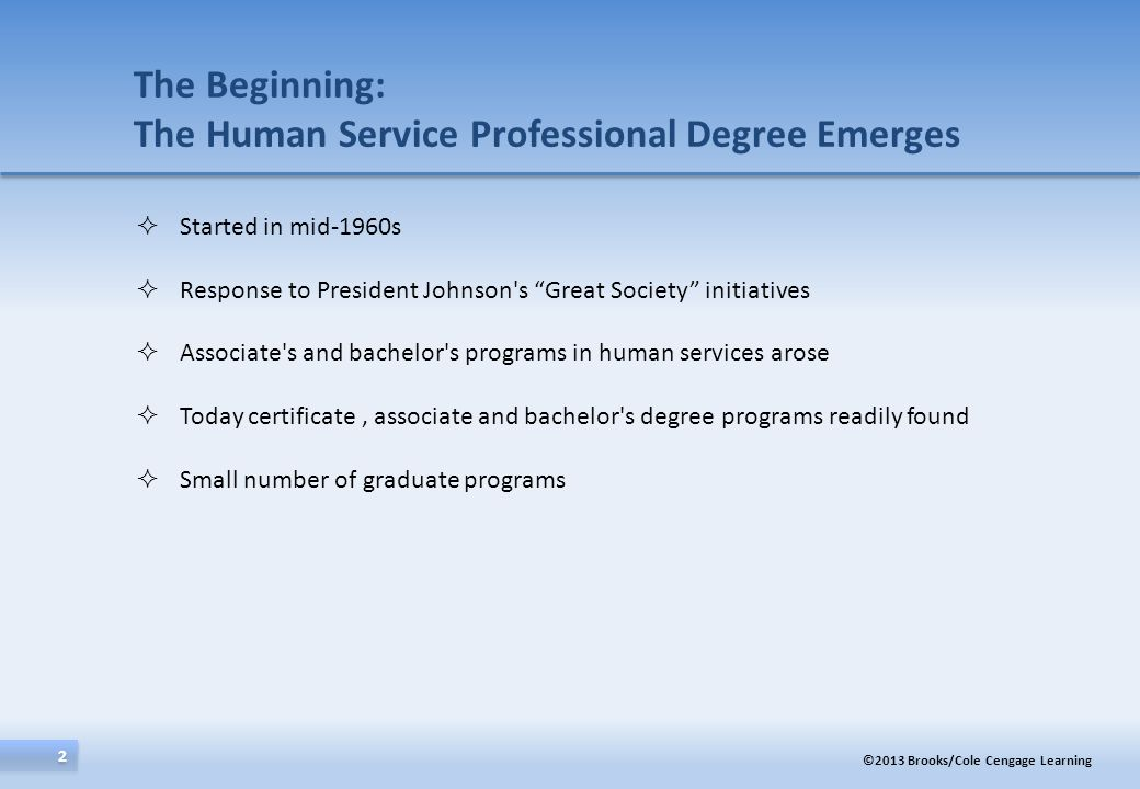The Beginning: The Human Service Professional Degree Emerges