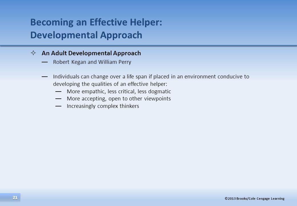 Becoming an Effective Helper: Developmental Approach