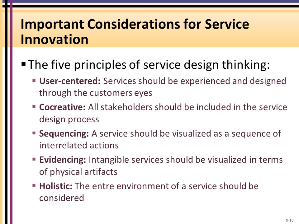 Important Considerations for Service Innovation