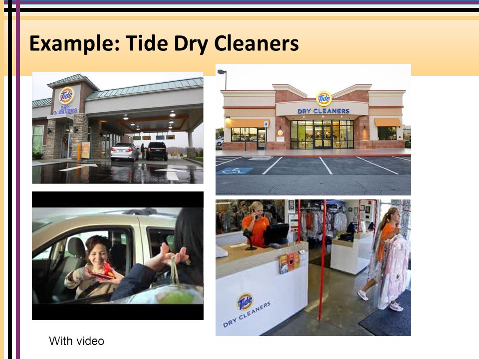 Example: Tide Dry Cleaners