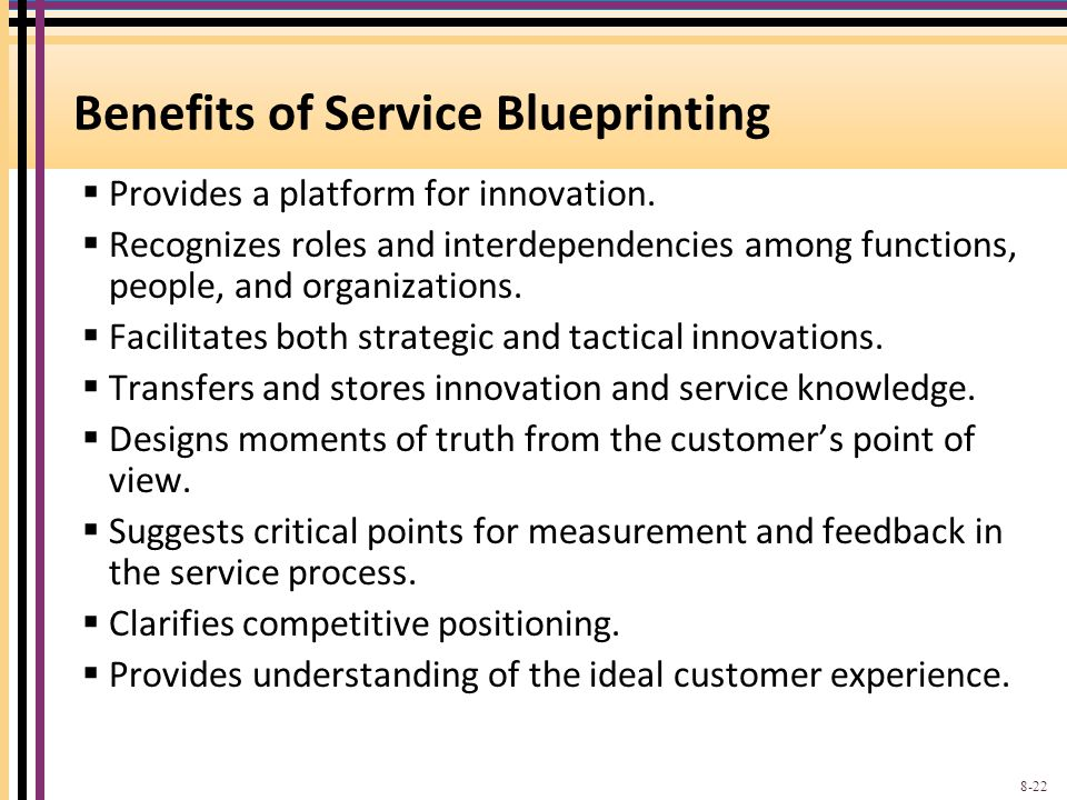 Benefits of Service Blueprinting