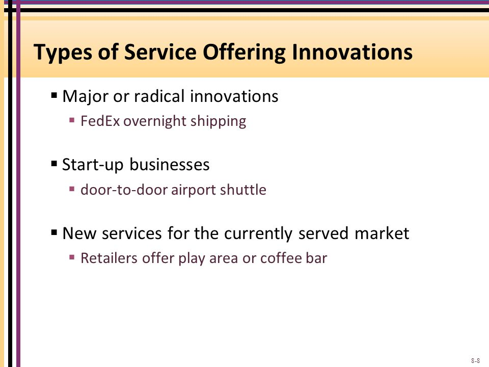 Types of Service Offering Innovations