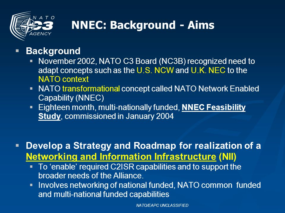 NNEC: Background - Aims