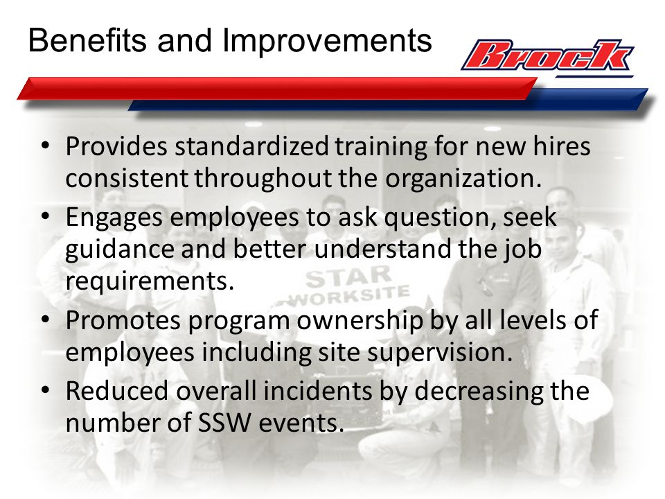 Benefits and Improvements