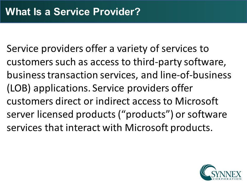 What Is a Service Provider