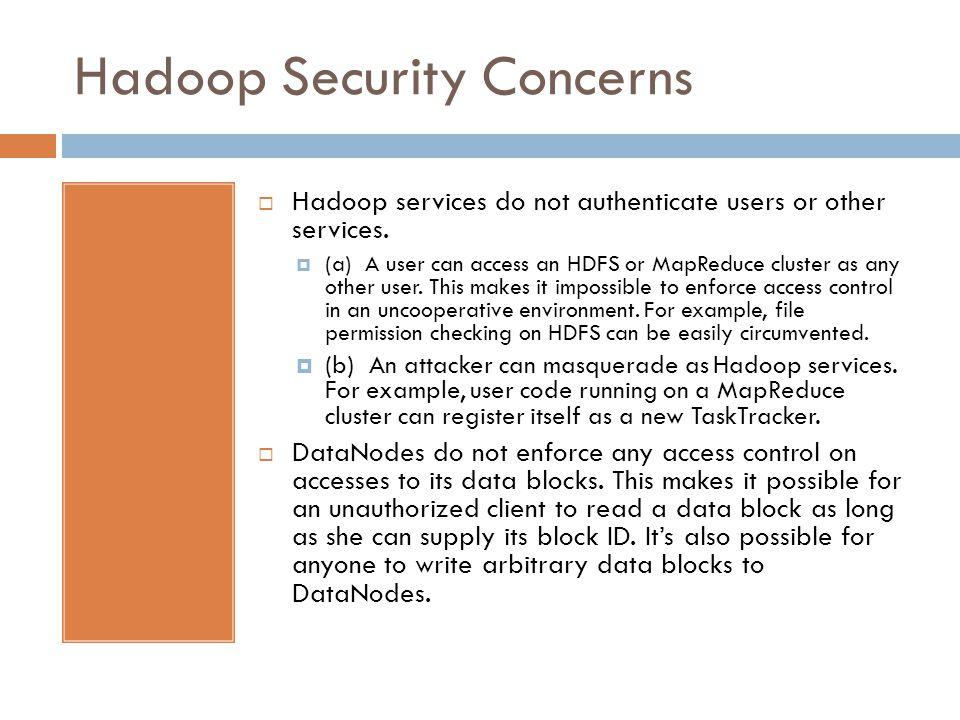 Hadoop Security Concerns