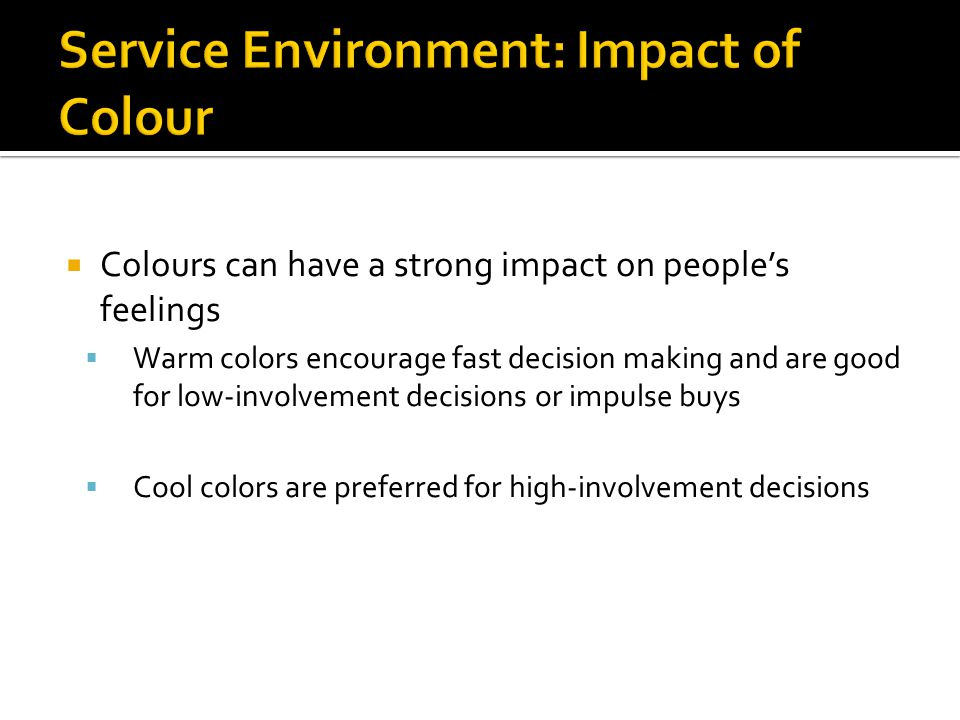 Service Environment: Impact of Colour