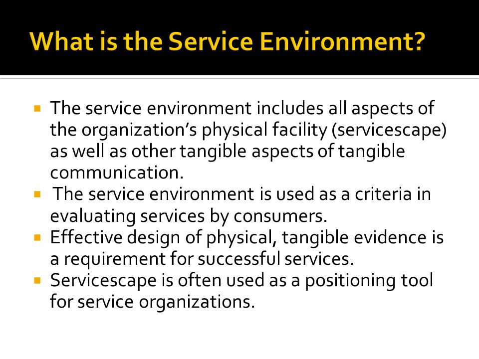 What is the Service Environment
