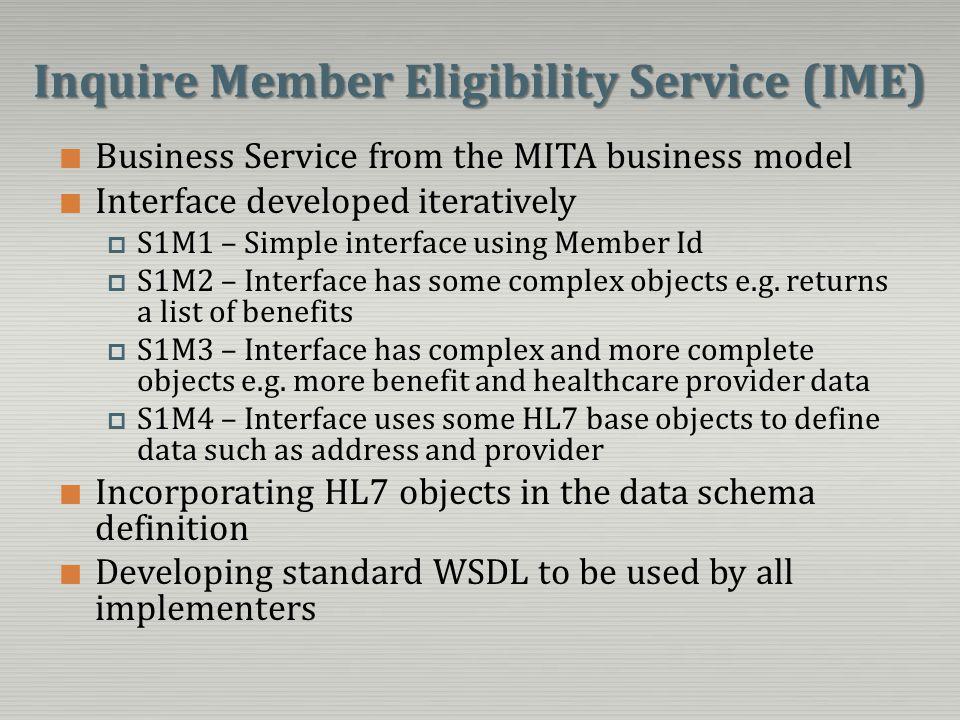 Inquire Member Eligibility Service (IME)