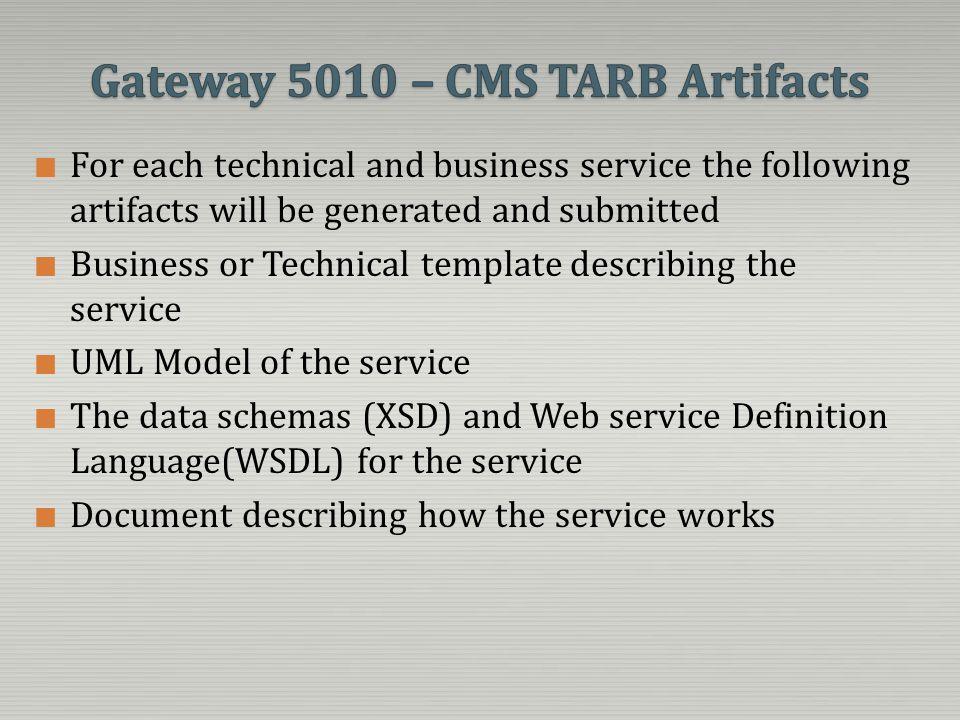Gateway 5010 – CMS TARB Artifacts