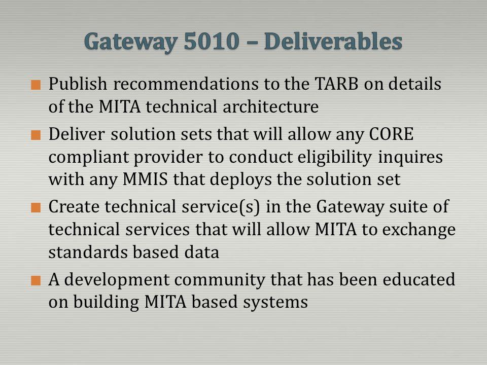 Gateway 5010 – Deliverables