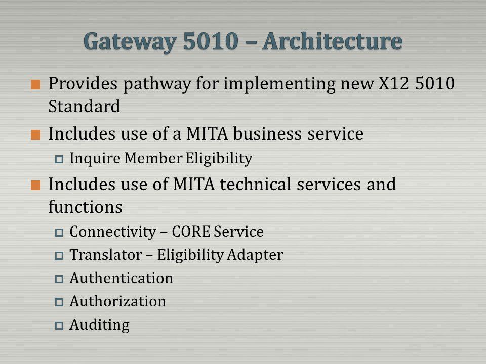 Gateway 5010 – Architecture