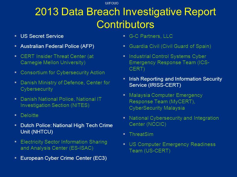 2013 Data Breach Investigative Report Contributors