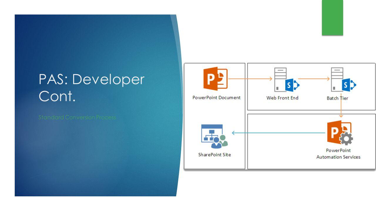 PAS: Developer Cont. Standard Conversion Process