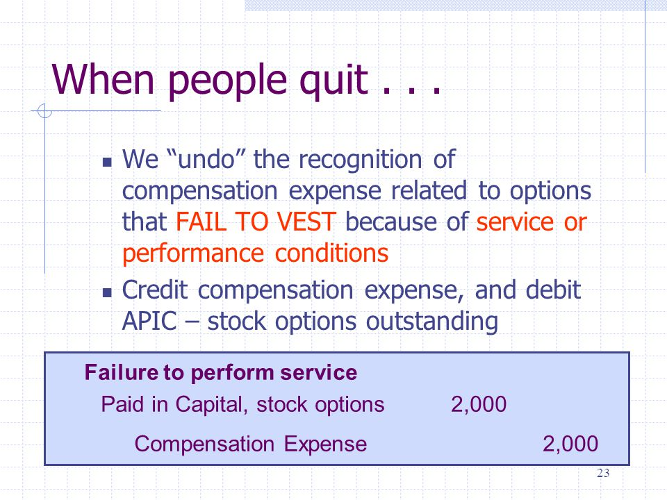 Compensation cost stock options