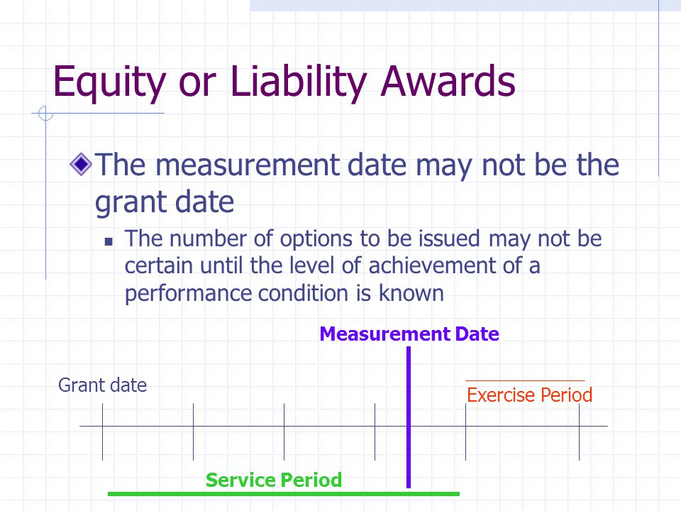 Equity or Liability Awards