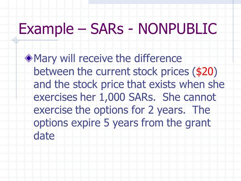 Example – SARs - NONPUBLIC