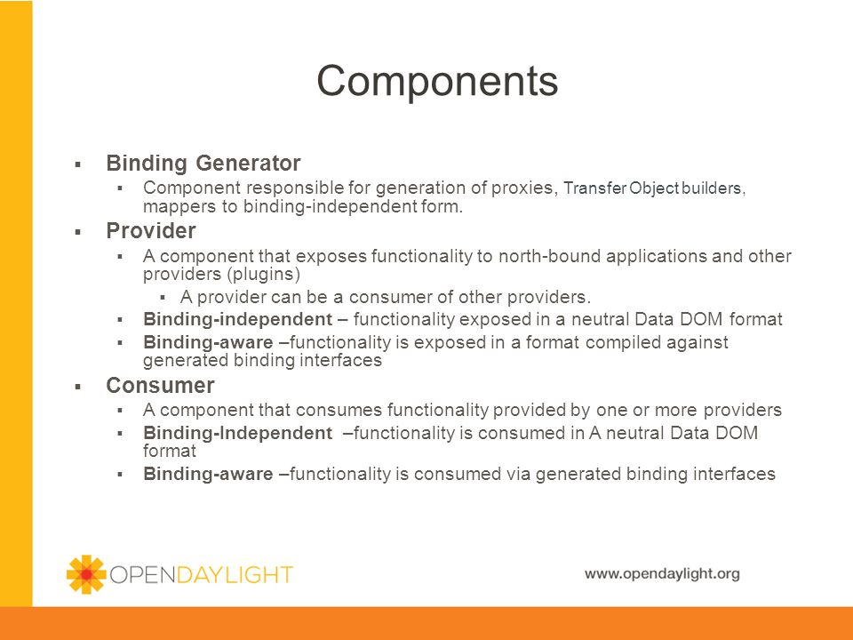 Components Binding Generator Provider Consumer