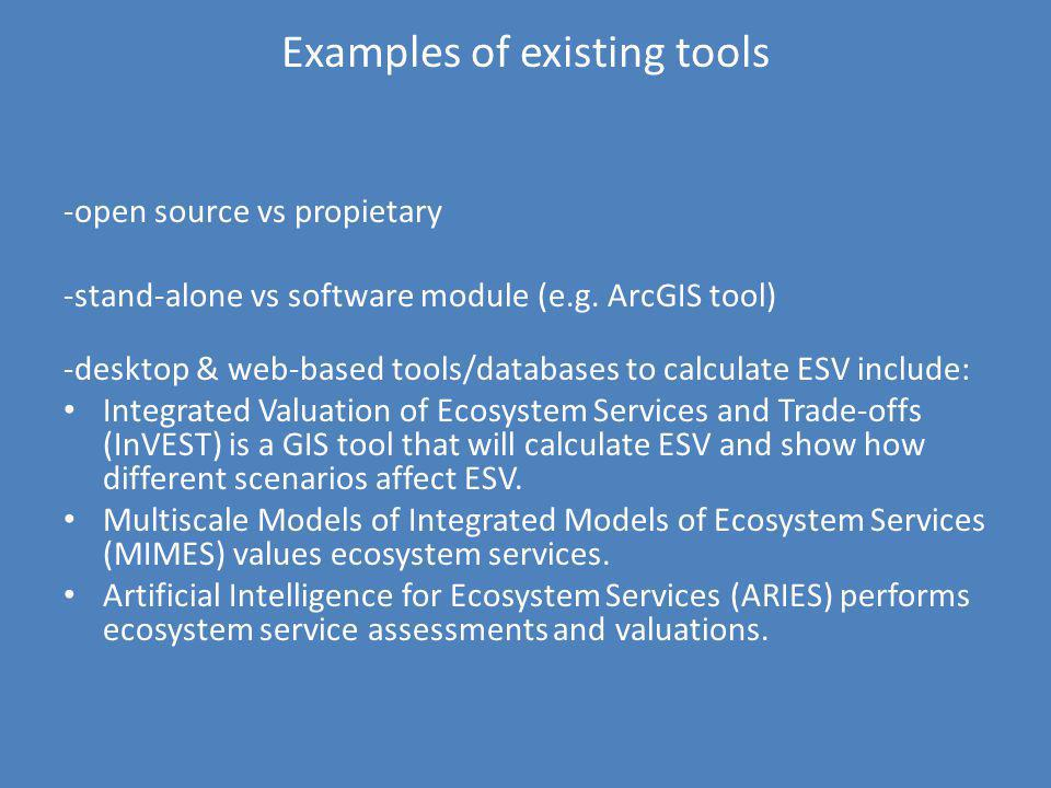 Examples of existing tools