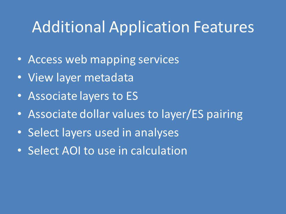Additional Application Features