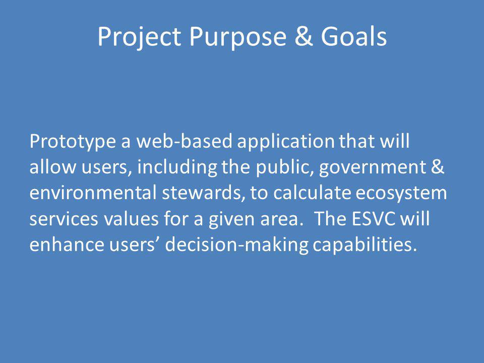 Project Purpose & Goals
