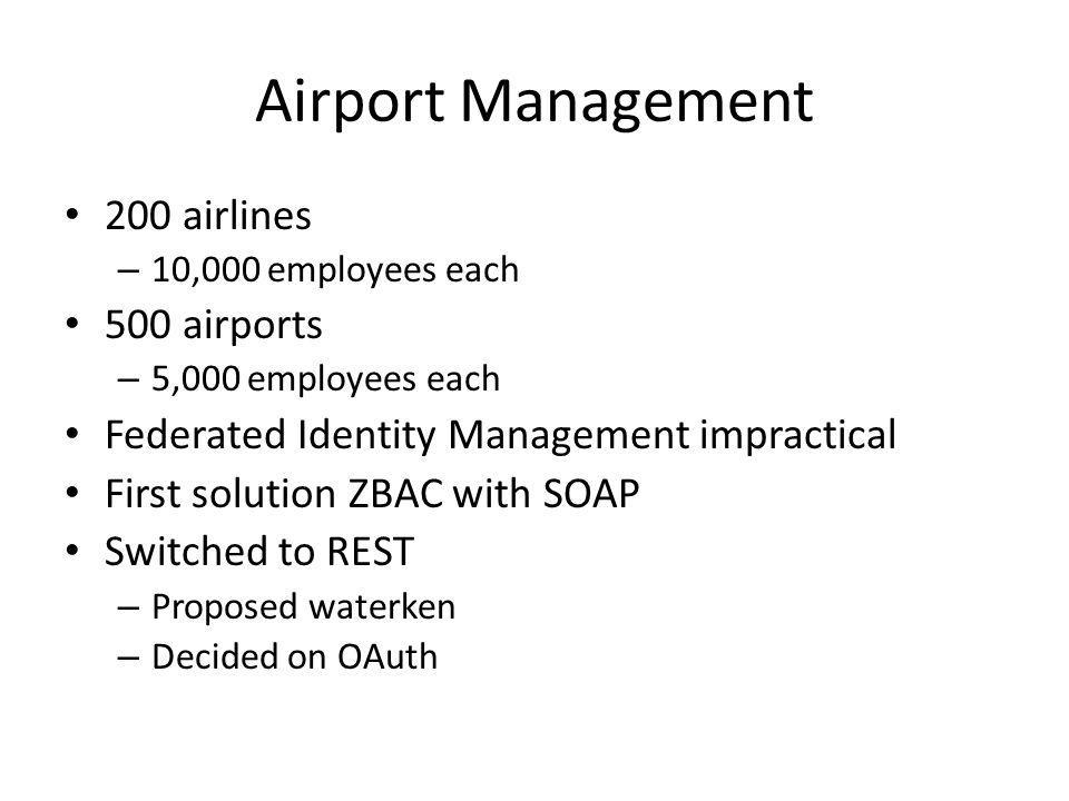 Airport Management 200 airlines 500 airports