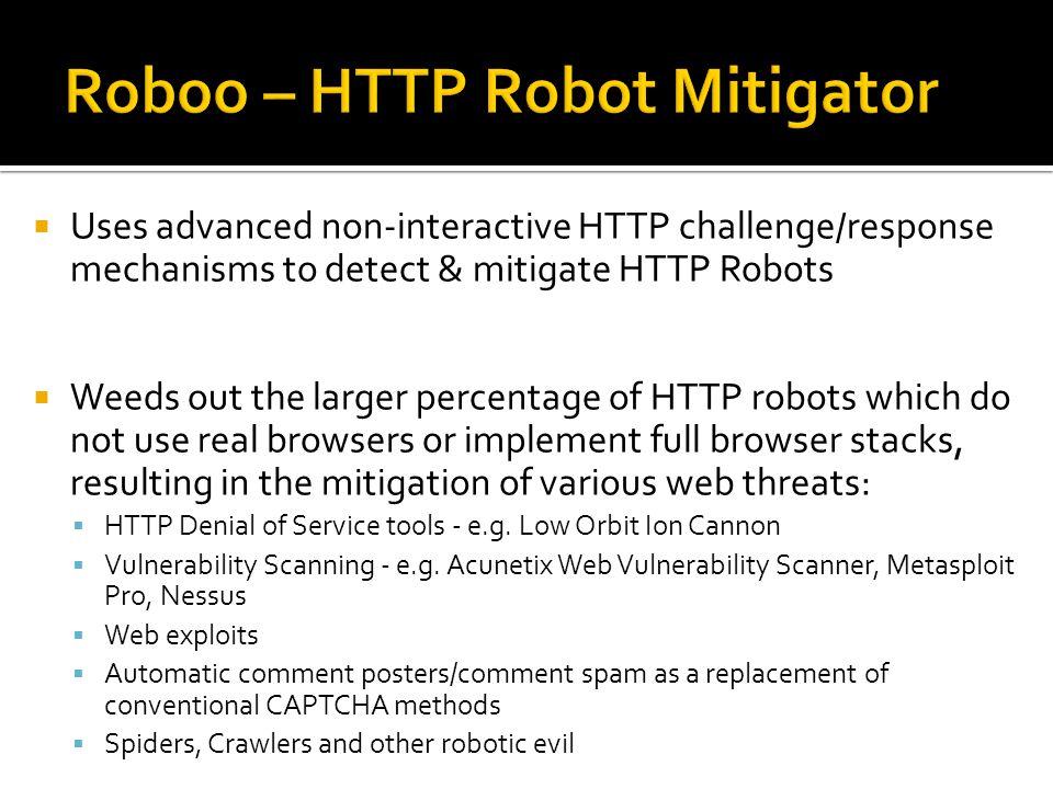 Roboo – HTTP Robot Mitigator