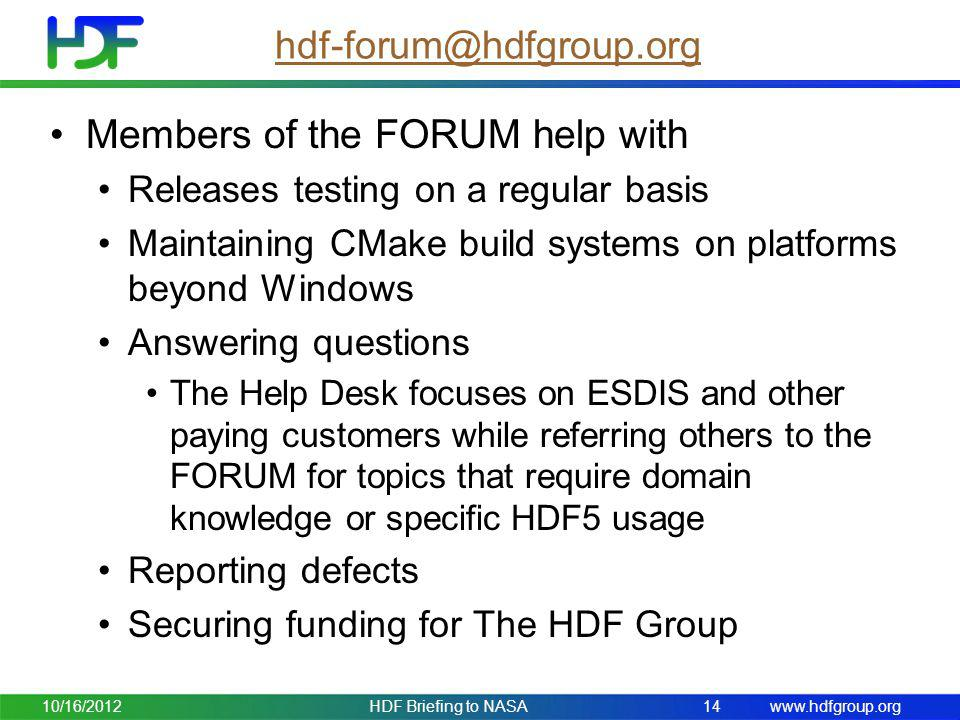 Members of the FORUM help with