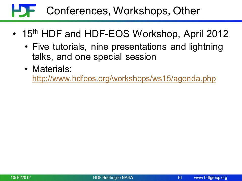 Conferences, Workshops, Other