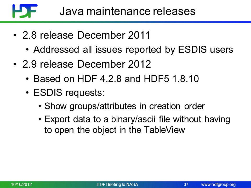 Java maintenance releases