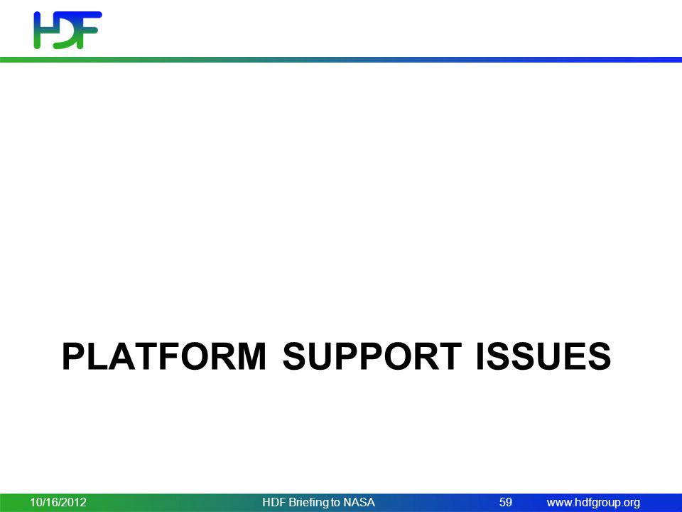 Platform support issues