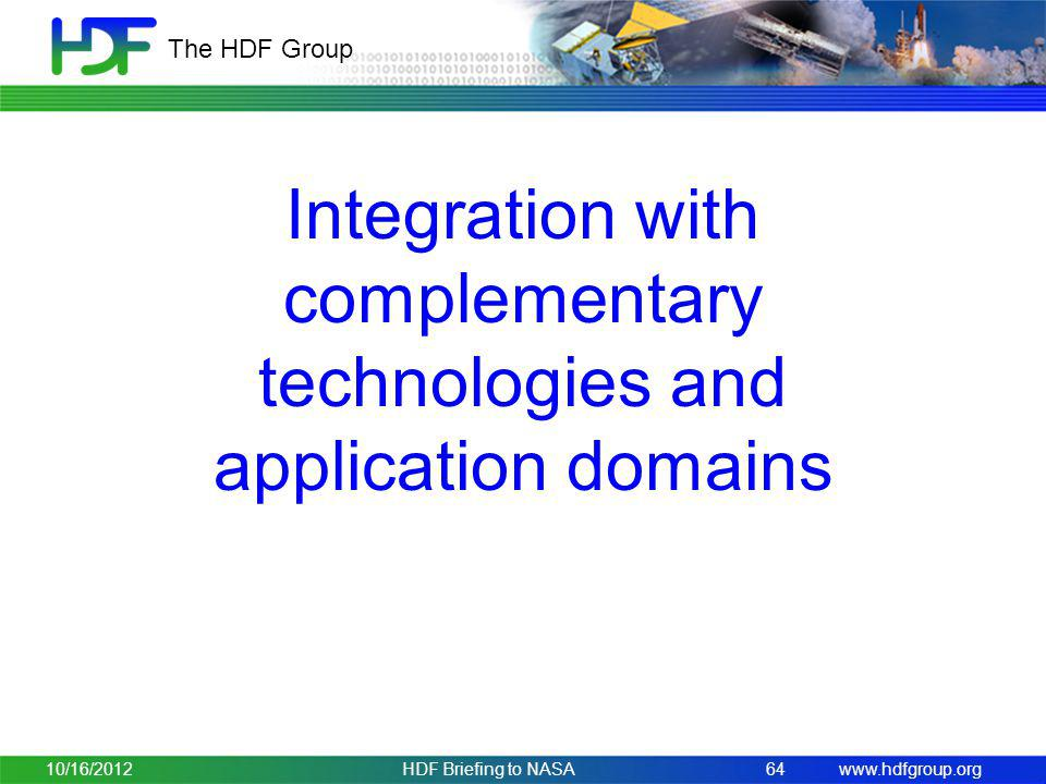 Integration with complementary technologies and application domains