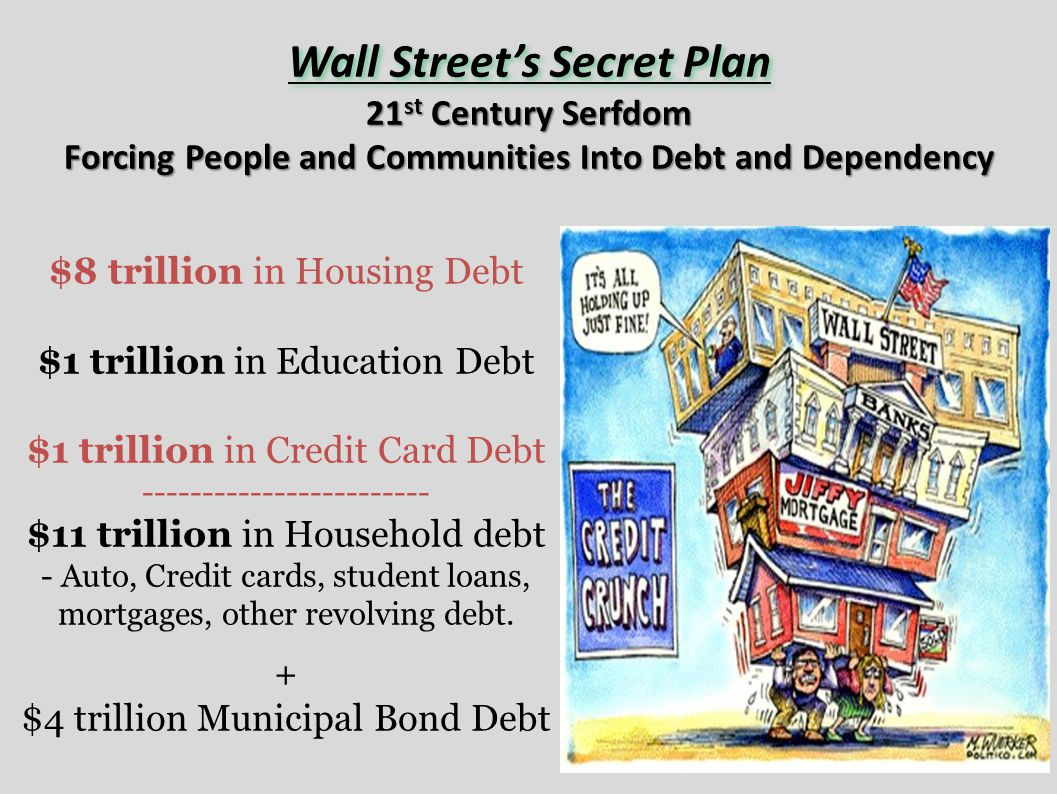 Forcing People and Communities Into Debt and Dependency