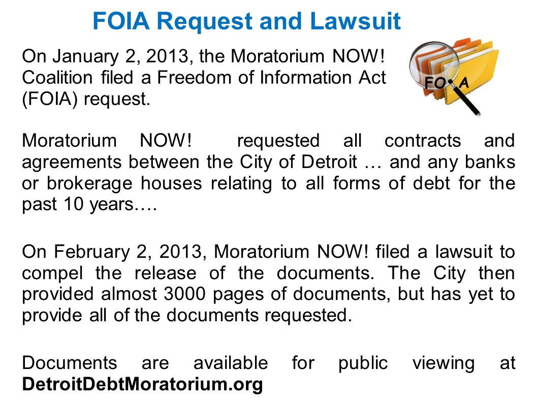 FOIA Request and Lawsuit