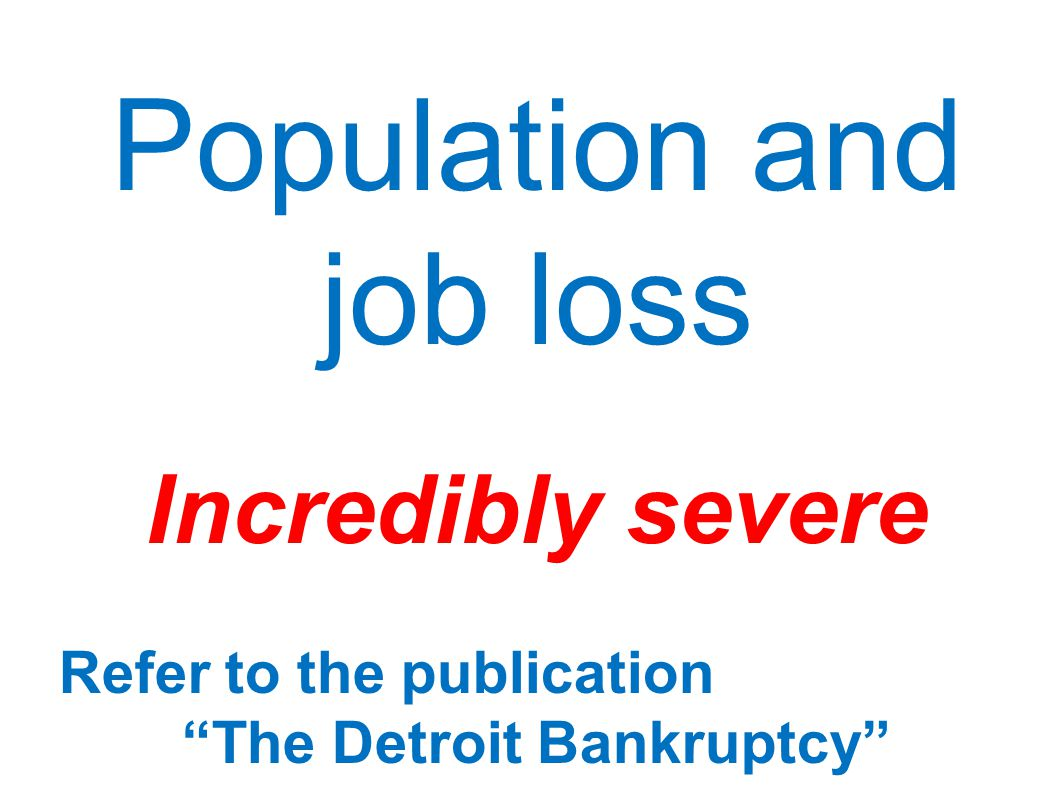 The Detroit Bankruptcy