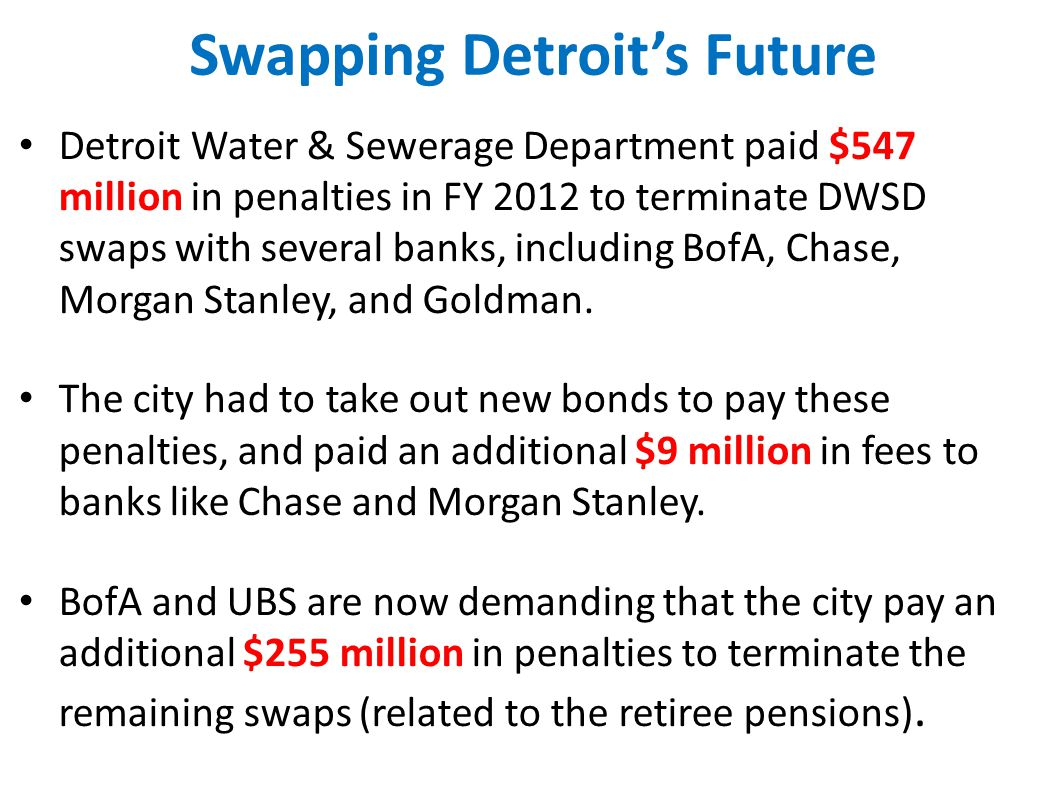 Swapping Detroit's Future