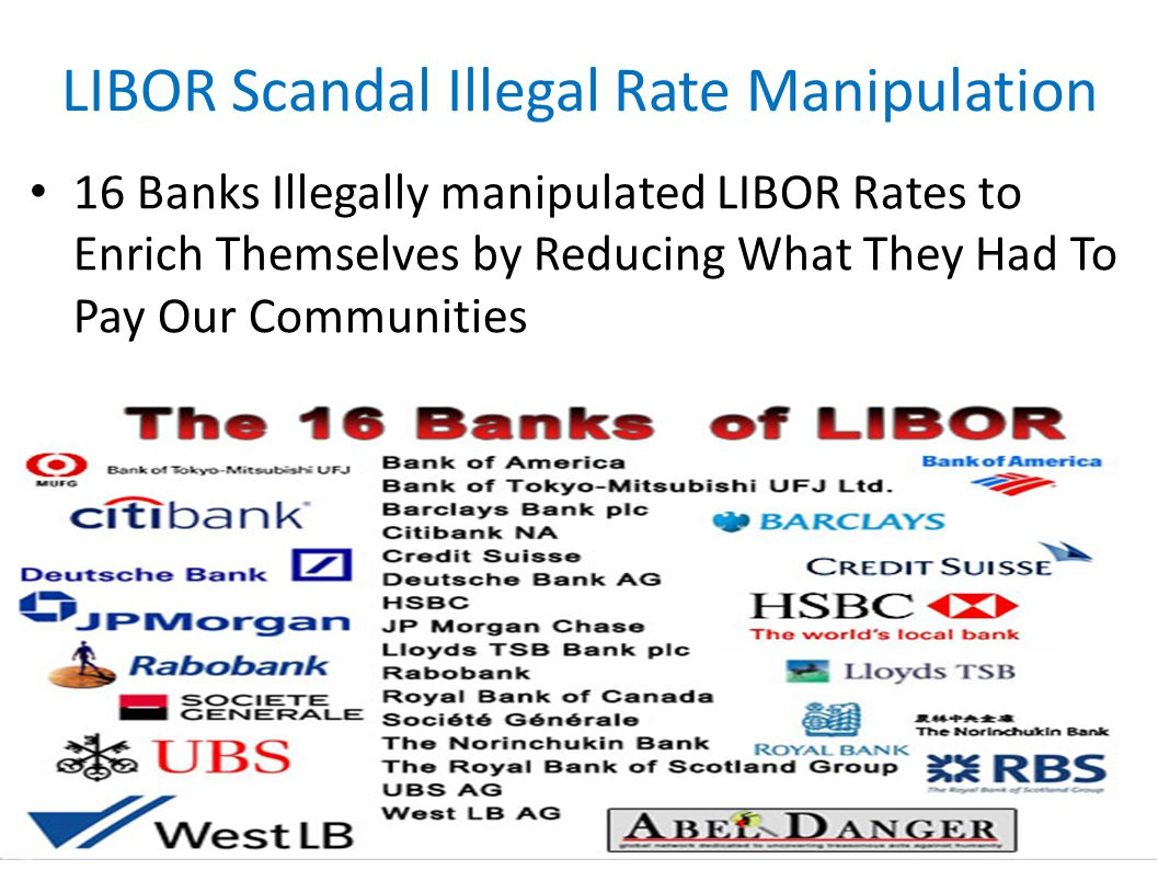 LIBOR Scandal Illegal Rate Manipulation