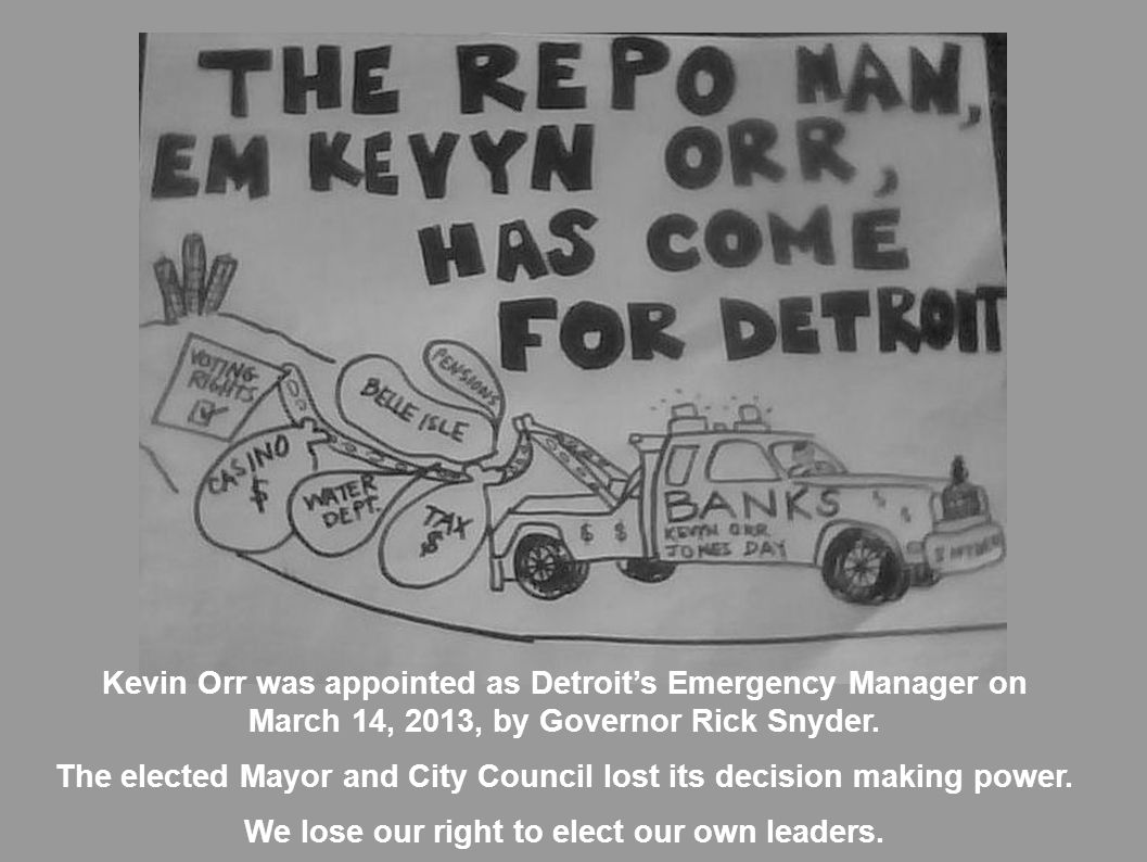 The elected Mayor and City Council lost its decision making power.