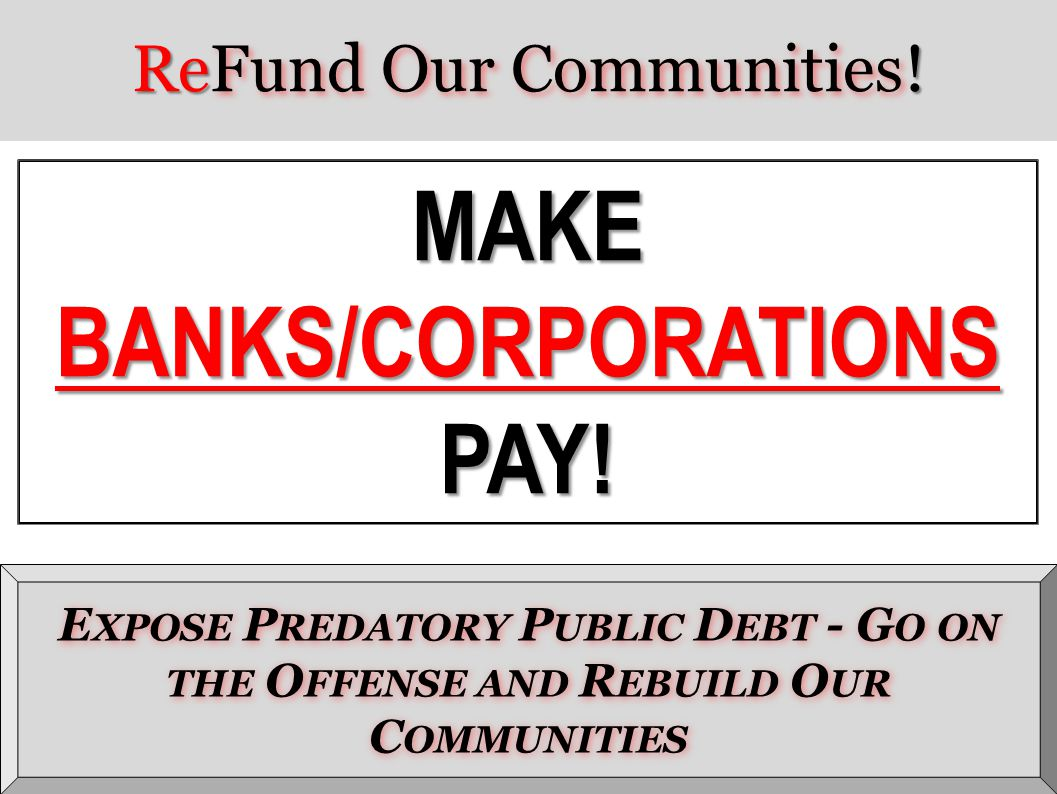 ReFund Our Communities!