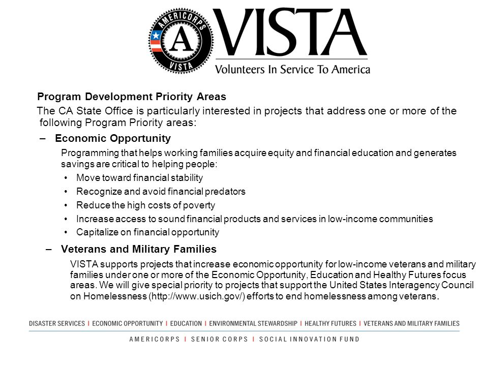 Program Development Priority Areas