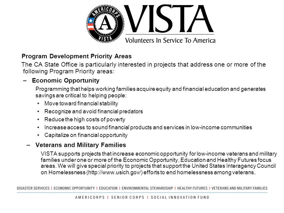Program Development Priority Areas