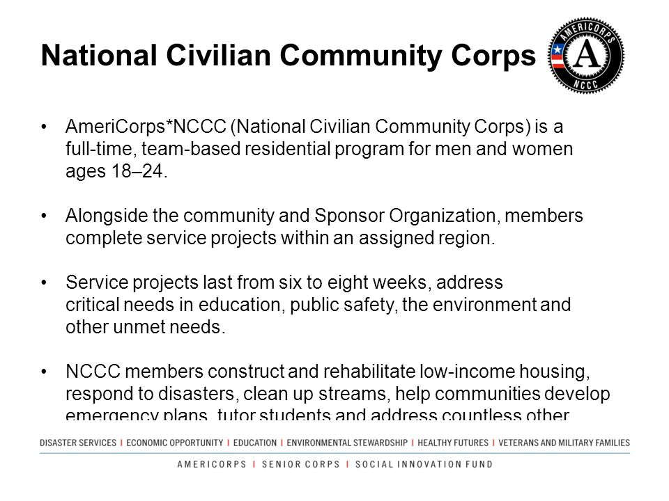 National Civilian Community Corps